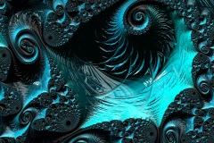 Blue Spirals Fractal